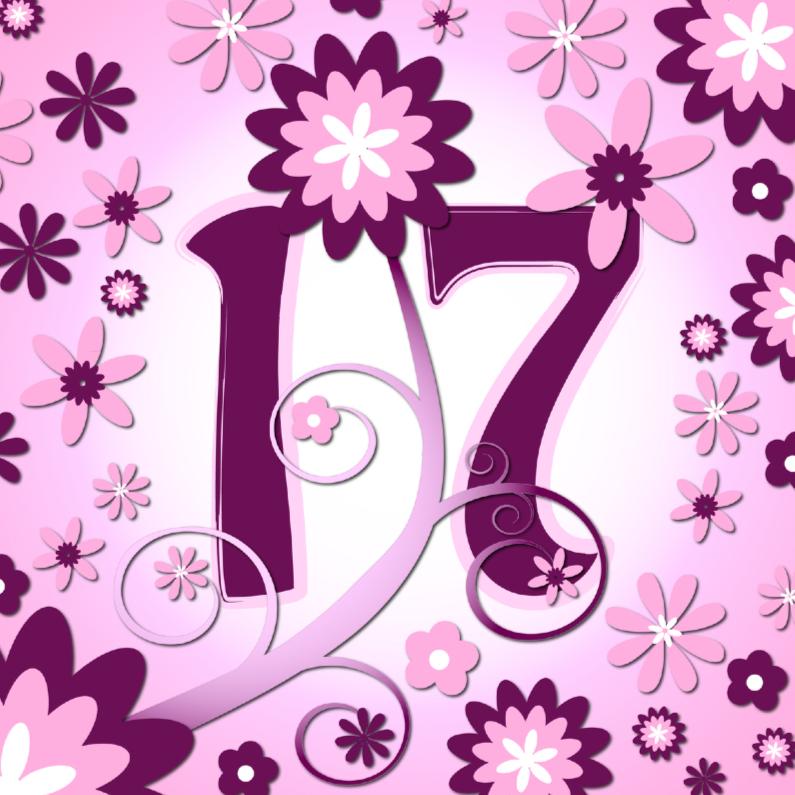 Verjaardagskaarten - flowerpower3 - 17 jaar