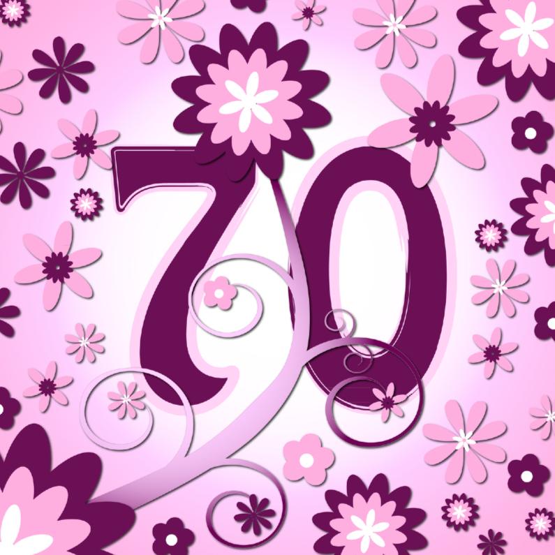 Verjaardagskaarten - flowerpower3 - 70 jaar