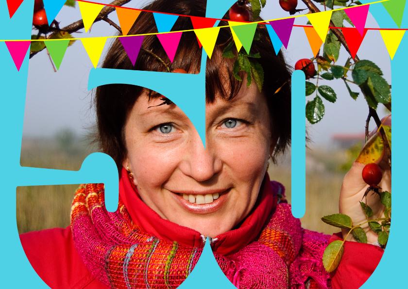 Verjaardagskaarten - Foto verjaardagskaart 50 jaar