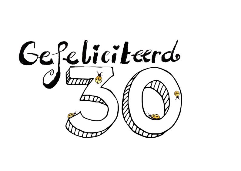 Verjaardagskaarten - Gefeliciteerd 30
