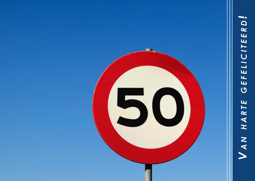 Verjaardagskaarten - Gefeliciteerd. 50!
