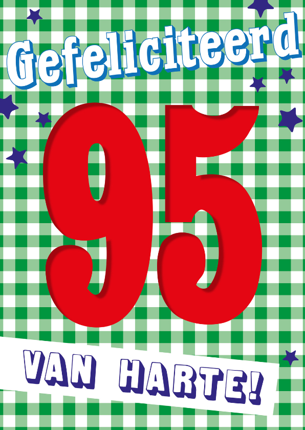Verjaardagskaarten - Gefeliciteerd 95 jaar -BF