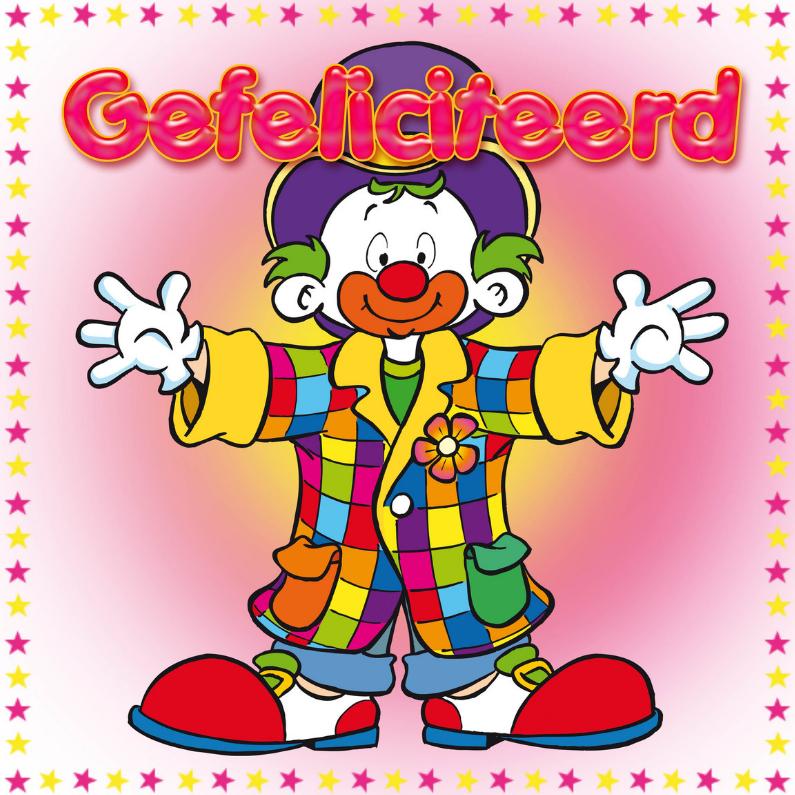 Verjaardagskaarten - Gefeliciteerd Clown-MS