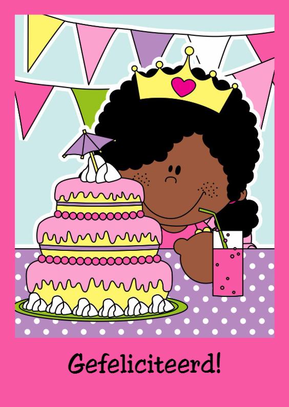 Verjaardagskaarten - Gefeliciteerd Prinses!