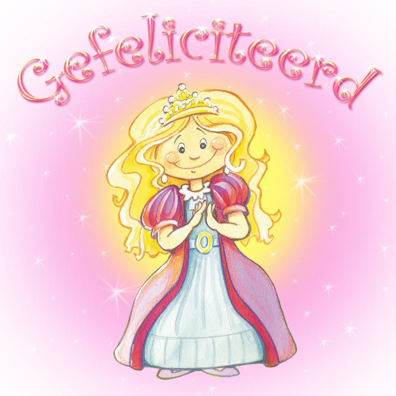 Verjaardagskaarten - Gefeliciteerd prinsesje M
