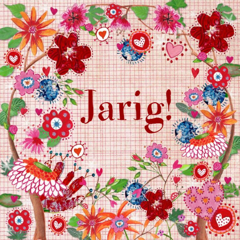 Verjaardagskaarten - Gefeliciteerd vrolijk bloem CartitaDesig