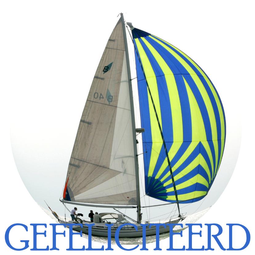 Verjaardagskaarten - Gefeliciteerd Zeilboot