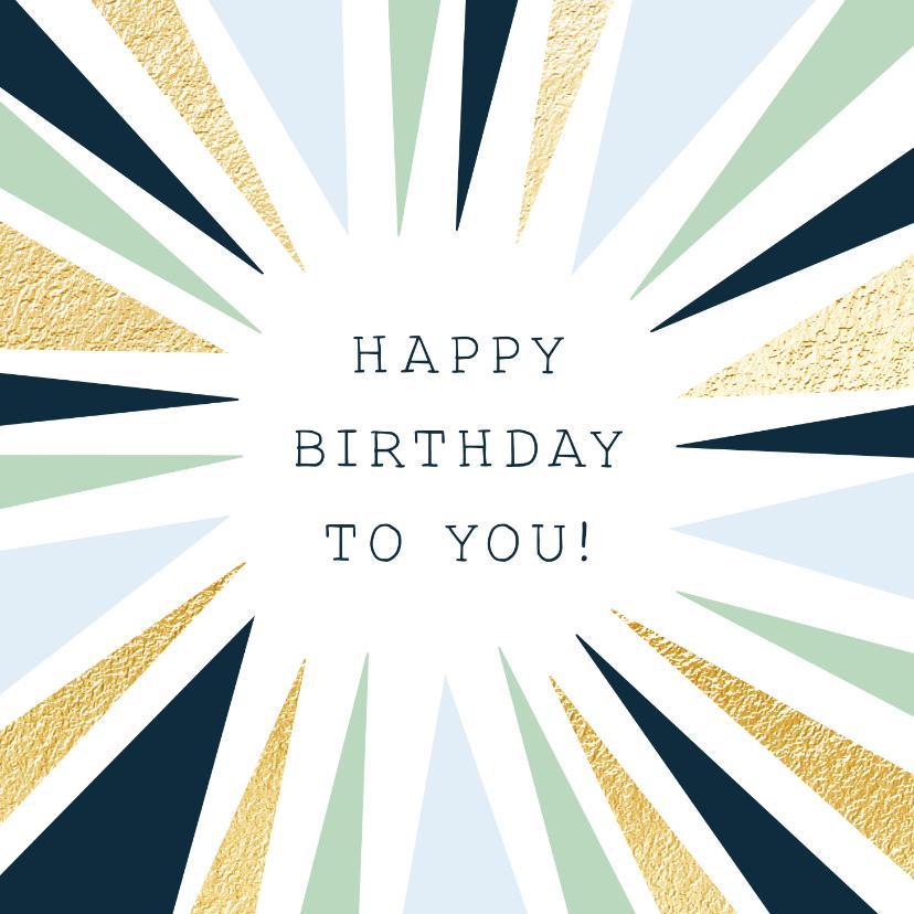 Verjaardagskaarten - Grafische verjaardagskaart en vrolijke kleurencombi