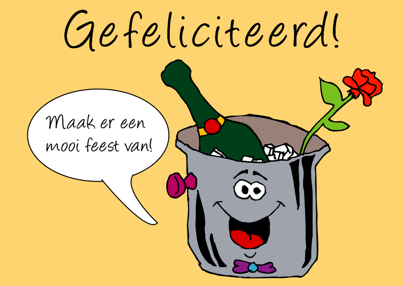 Grappig kaart champagne 1