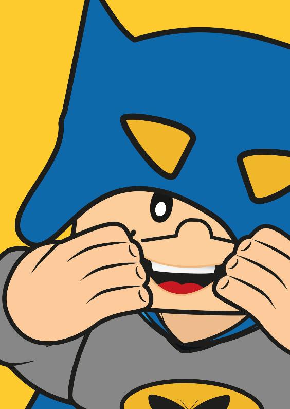 Verjaardagskaarten - Grappige superheld batman