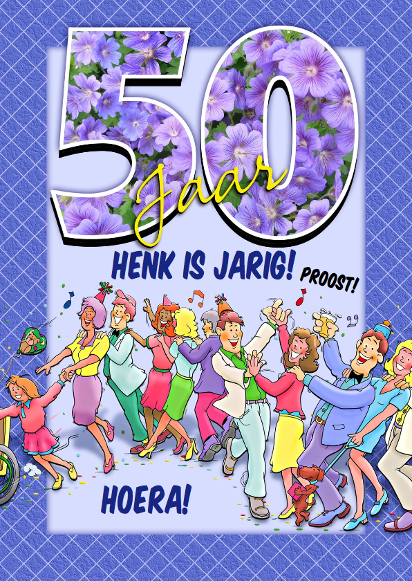 Verjaardagskaarten - Grappige verjaardag polonaise voor iemand die 50 jaar wordt