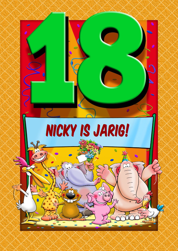 18 Going On 18 Here Are The Interesting Bits: Grappige Verjaardagkaart Met Leeftijd 18 Jaar