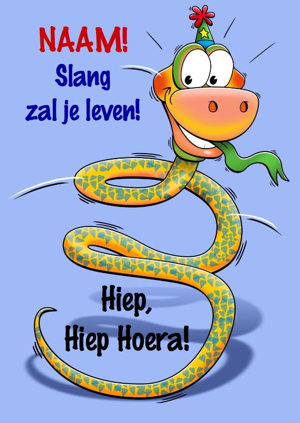 Verjaardagskaarten - Grappige verjaardagkaart slang met lange nek 3 jaar