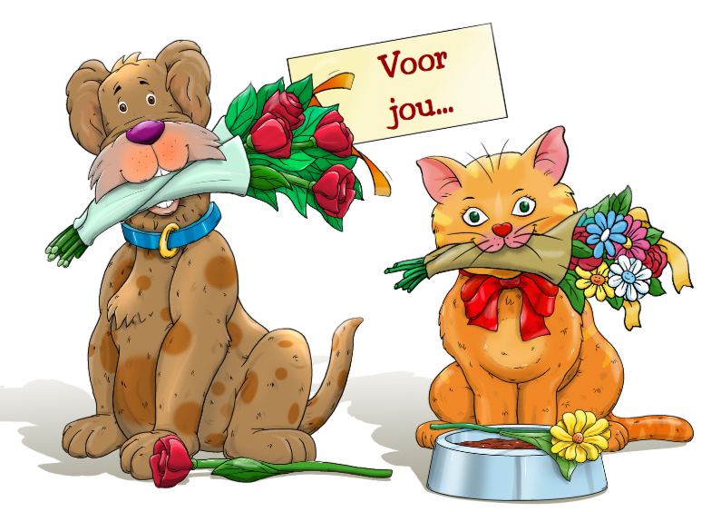 Grappige Verjaardagskaart Hond En Kat Met Kaartje2go