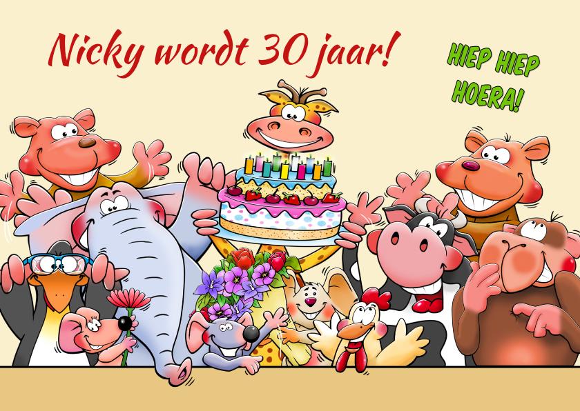 Verjaardagskaarten - Grappige verjaardagskaart met leuke dieren