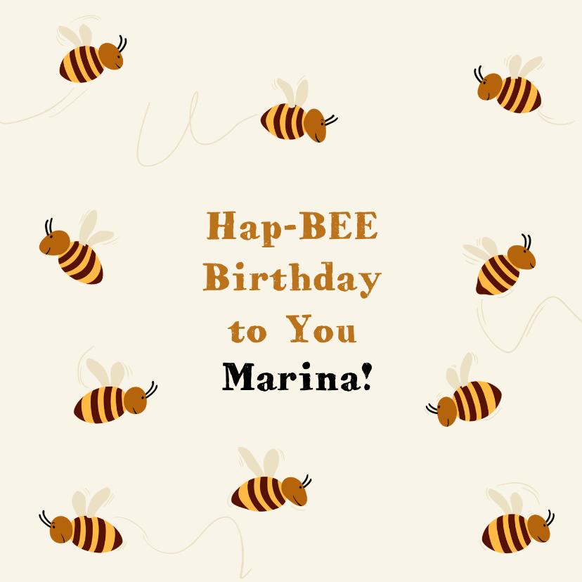 Verjaardagskaarten - Grappige verjaardagskaart met zwerm bijen