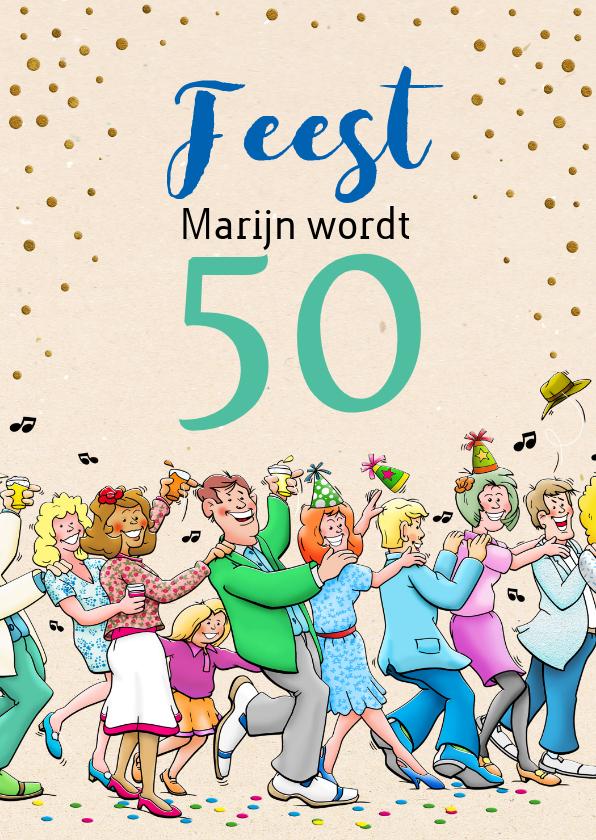 Fabulous Grappige verjaardagskaart voor man rond de 50 | Kaartje2go #OJ58