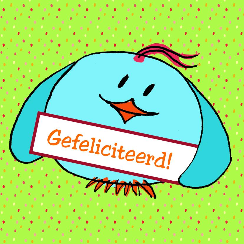 Verjaardagskaarten - Happy birdday to you