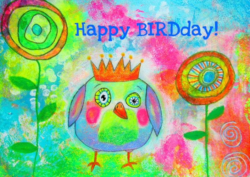 Verjaardagskaarten - Happy BIRDday - Vogeltje