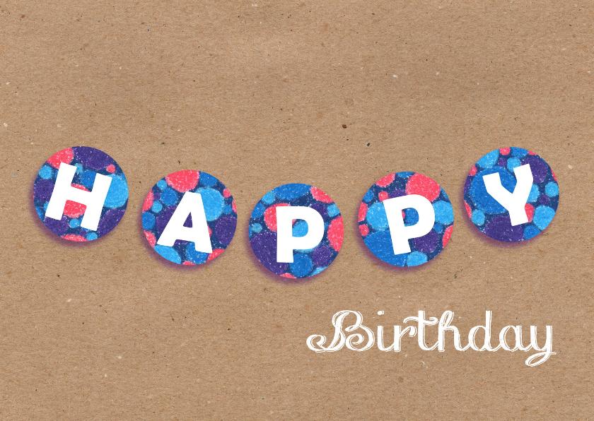 Verjaardagskaarten - Happy Birthday 2_Illu-Straver