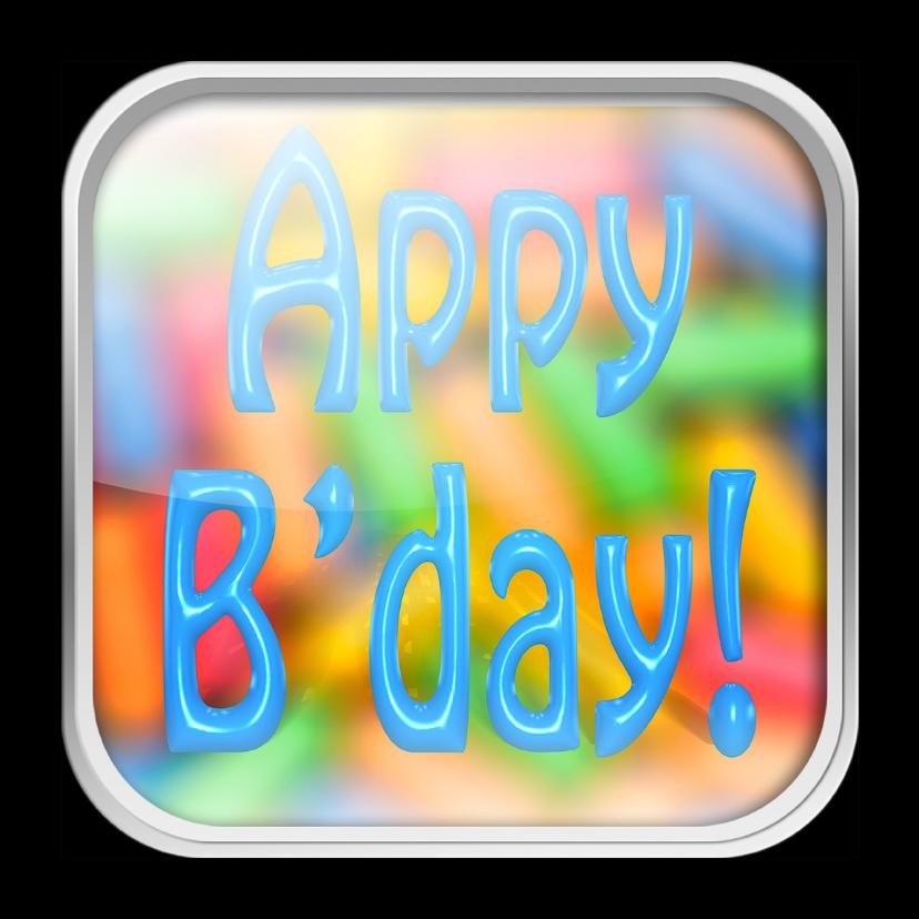 Verjaardagskaarten - hAppy Birthday - app felicitatie