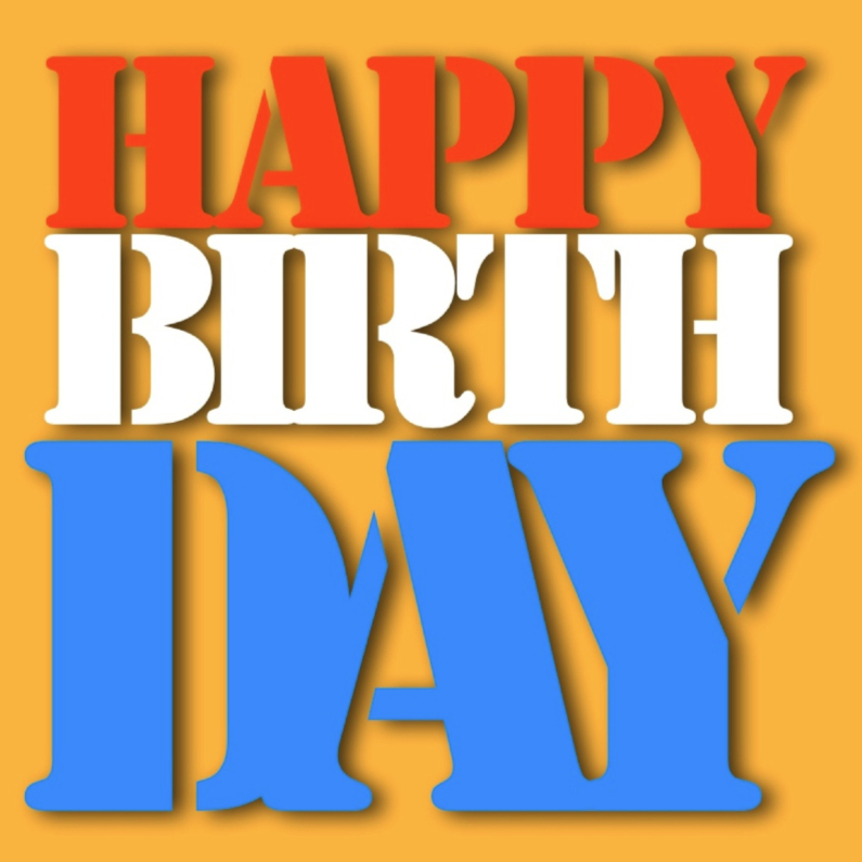 Verjaardagskaarten - happy birthday from Nederland