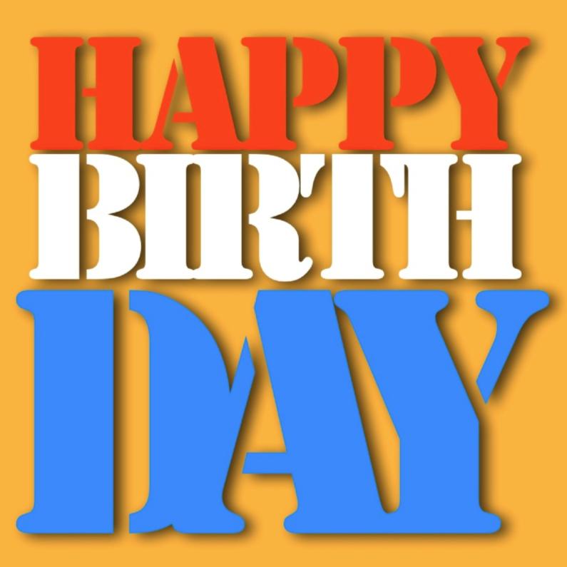 Verjaardagskaarten - happy birthday from Nederland