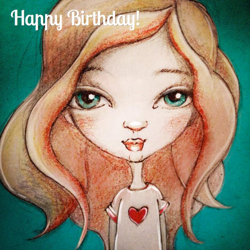Verjaardagskaarten - Happy Birthday Girly