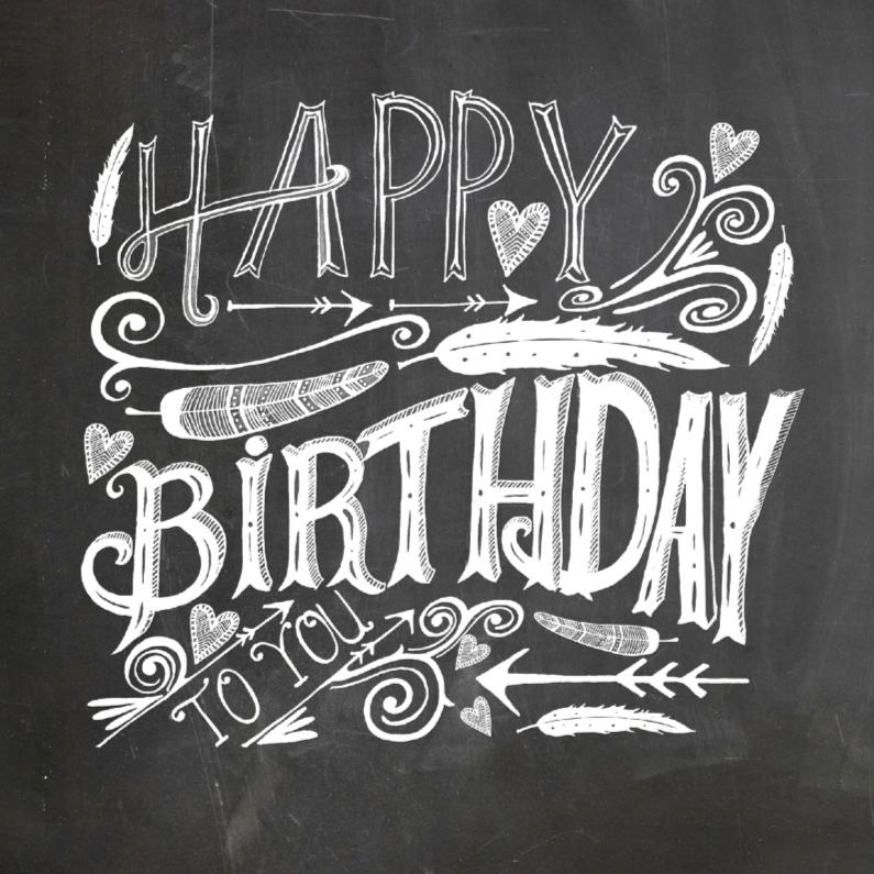Verjaardagskaarten - Happy Birthday handlettering