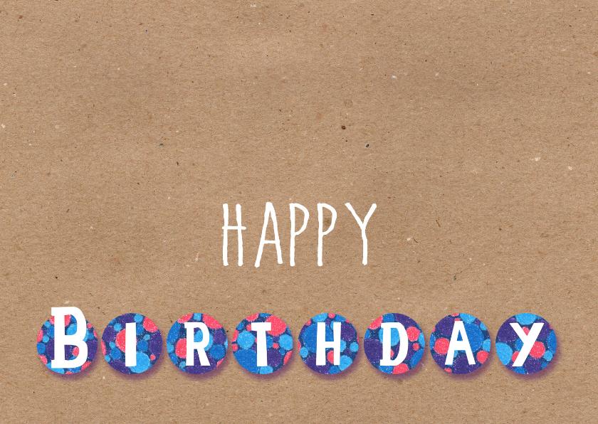 Verjaardagskaarten - Happy Birthday_Illu-Straver