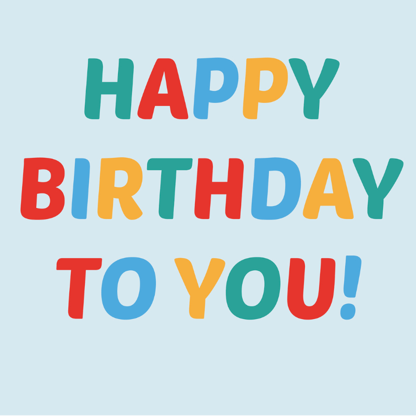 Verjaardagskaarten - Happy birthday kleuren