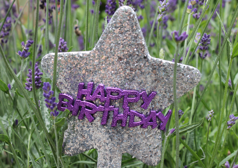 Verjaardagskaarten - Happy Birthday Lavendel paars