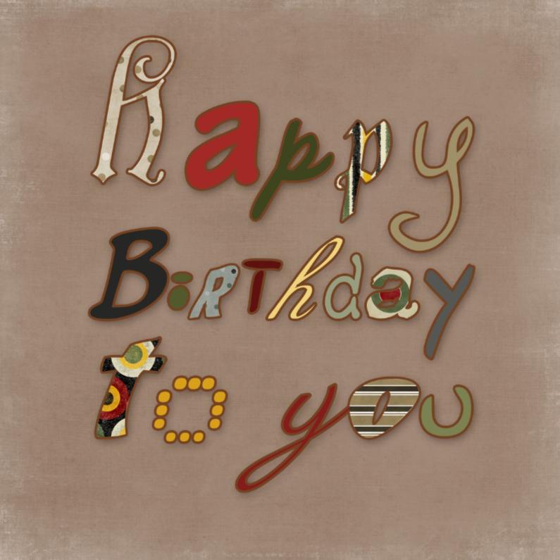 Verjaardagskaarten - Happy Birthday Men