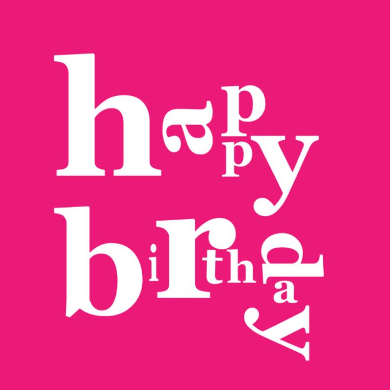 Verjaardagskaarten - happy birthday pinklady