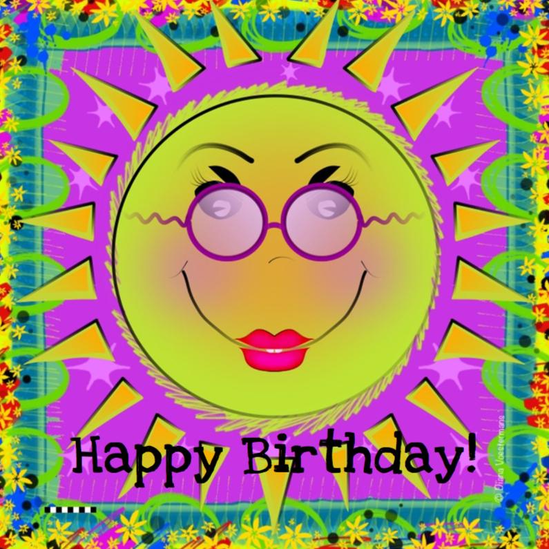 Verjaardagskaarten - Happy Birthday sun