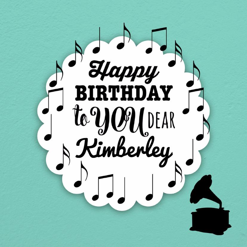 Verjaardagskaarten - Happy birthday to you-isf