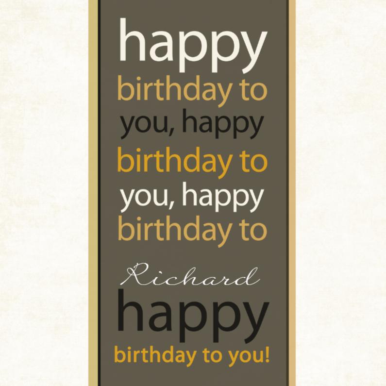 Verjaardagskaarten - Happy birthday to you1