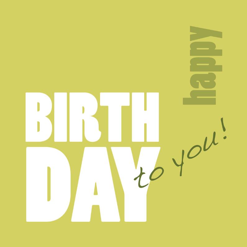 Verjaardagskaarten - Happy Birthday verjaardagskaart