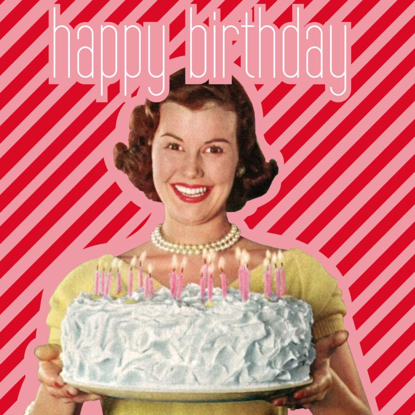 Verjaardagskaarten - Happy Birthday Vintage