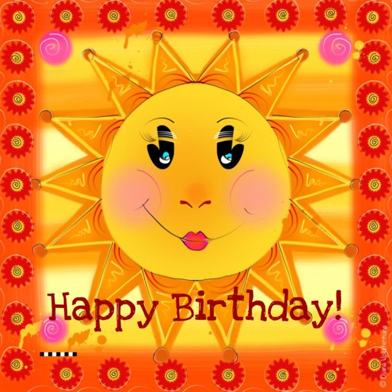 Verjaardagskaarten - Happy Birthday zonnetje