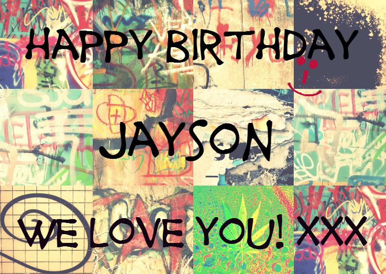 Verjaardagskaarten - Happy Graffiti Birthday