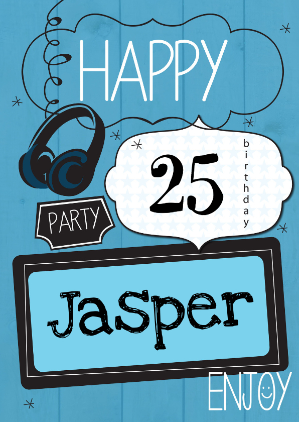 Verjaardagskaarten - Happy....... party-ByF