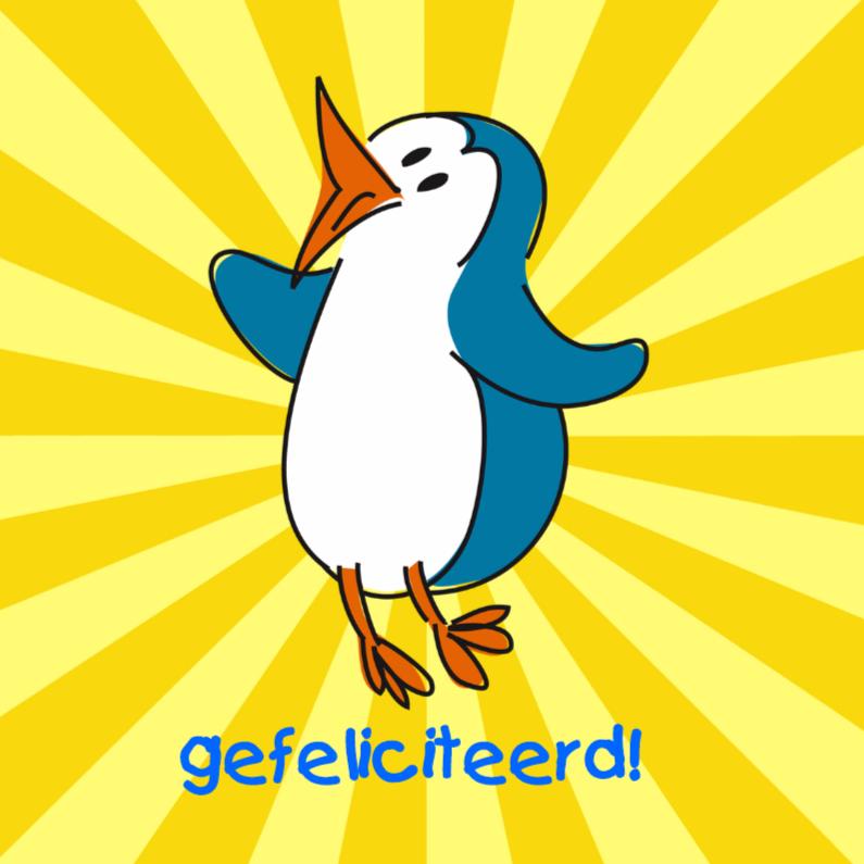 Verjaardagskaarten - Happy pinguin