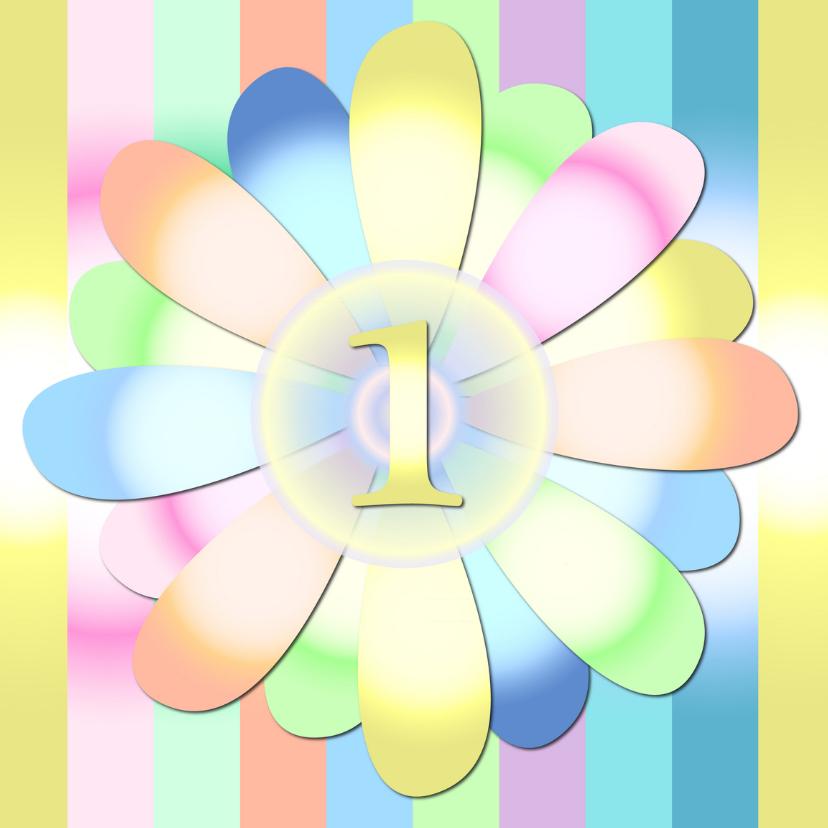 Verjaardagskaarten - happyflower-1jaar