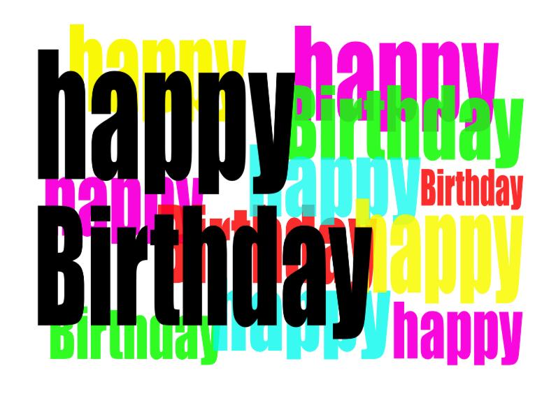 Verjaardagskaarten - HBD