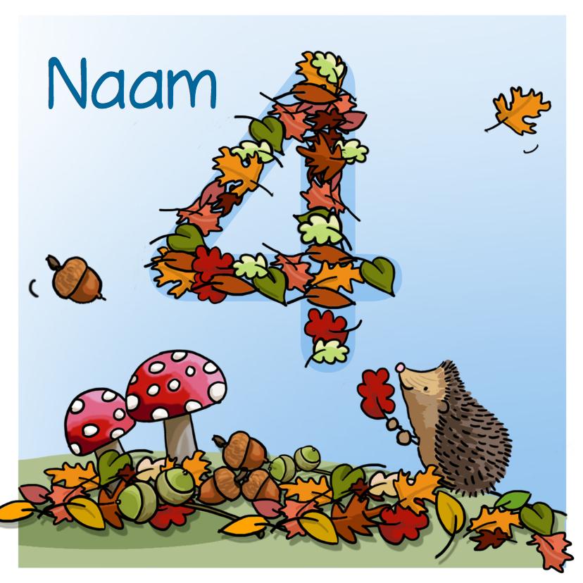 Verjaardagskaarten - Herfst verjaardag 4 Anet Illustraties