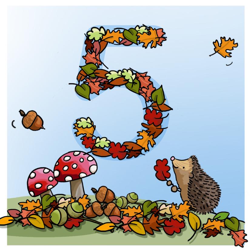 Verjaardagskaarten - Herfst verjaardag 5 Anet Illustraties