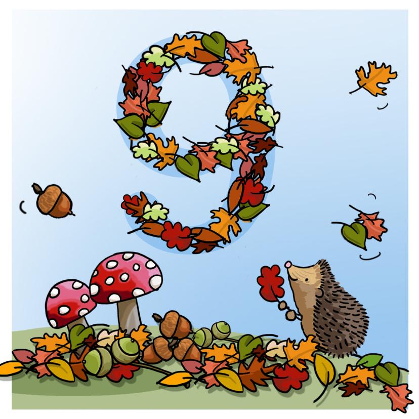 Verjaardagskaarten - Herfst verjaardag 9 Anet Illustraties