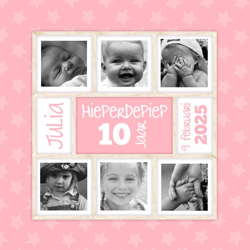 Verjaardagskaarten - Hieperdepiep in roze-isf