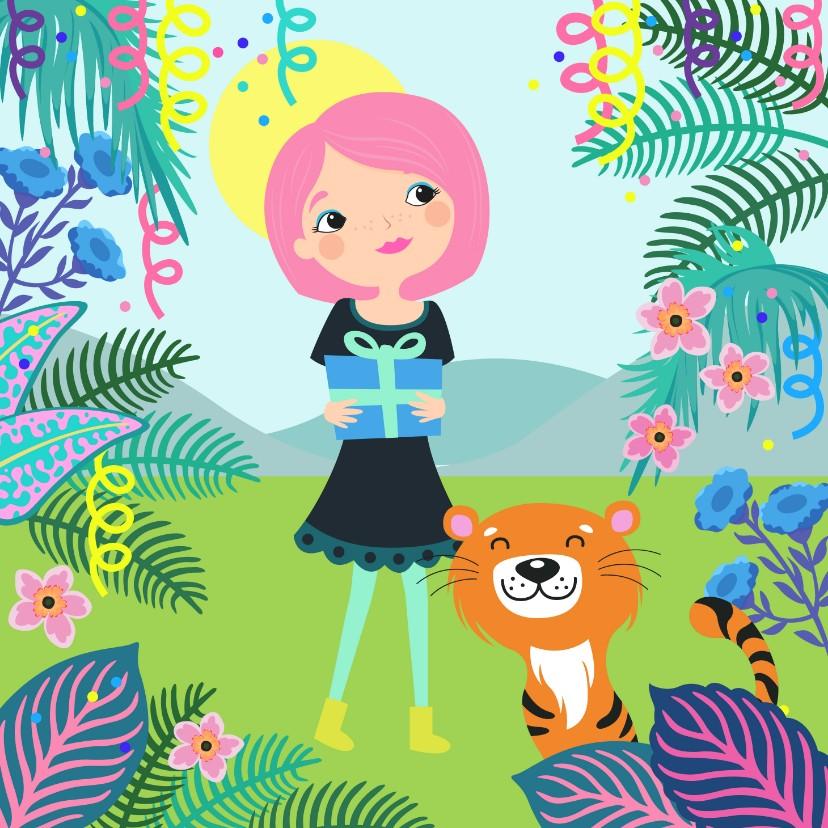 Verjaardagskaarten - Hippe en trendy verjaardagskaart met jungle thema